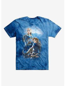 The Legend Of Zelda: Breath Of The Wild Link &Amp; Zelda Tie Dye T Shirt by Hot Topic