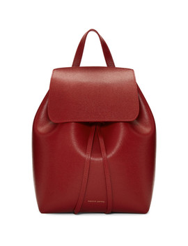 Red Saffiano Mini Backpack by Mansur Gavriel