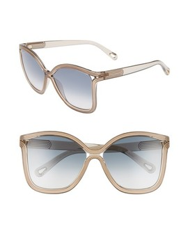 Grooves 58mm Rectangular Sunglasses by ChloÉ