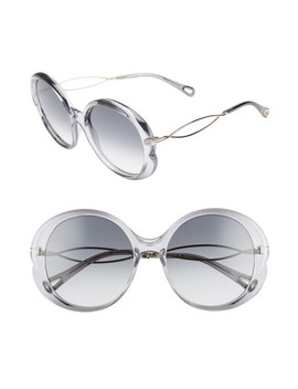Petal 57mm Gradient Round Sunglasses by ChloÉ