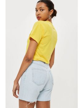 Longline Denim Shorts by Topshop