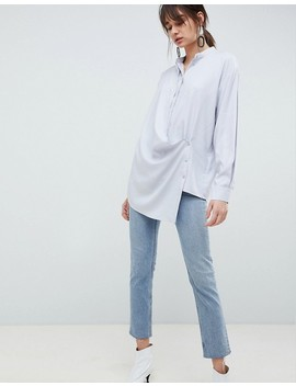 Asos White Wrap Shirt by Asos White