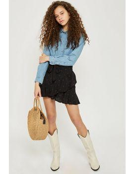 Petite Heart Ruffle Skirt by Topshop