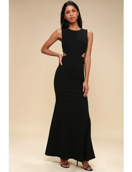 Utterly Smitten Black Cutout Maxi Dress by Lulus