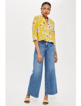 Floral Crop Pyjama Shirt by Topshop