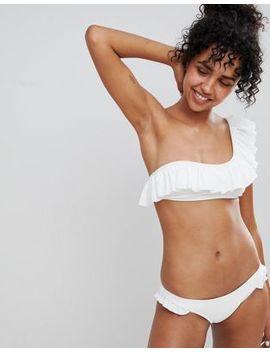 Pimkie One Shoulder Ruffle Bikini Top by Pimkie