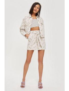 Moto Floral Oversize Jacket And Skirt Set by Topshop