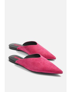 Pink Kilo Pointed Mules by Topshop