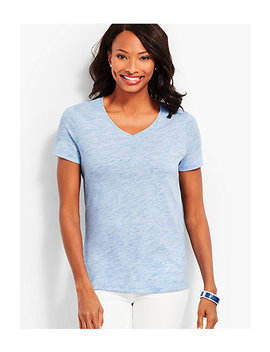 Space Dyed V Neck Tee by Talbots