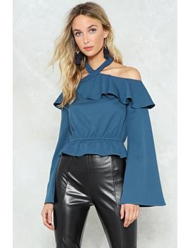 Sleeve A Message Cold Shoulder Crop Top by Nasty Gal