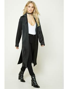 Contemporary Satin Coat by Forever 21