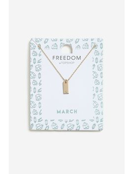 **March Birthstone Ditsy Necklace by Topshop