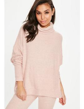 Nude Brushed Turtleneck Top by Missguided