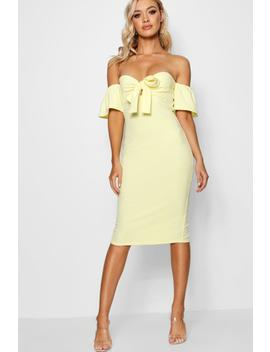 Louise Tie Front Off The Shoulder Midi Dress by Boohoo