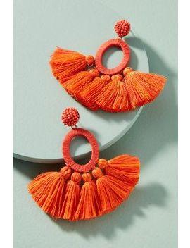 Hula Skirt Tasseled Drop Earrings by Anthropologie