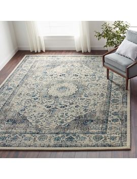 Maison Rouge Samar Vintage Oriental Grey / Ivory Distressed Rug (8' X 10') by Maison Rouge