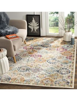 Safavieh Madison Bohemian Vintage Cream/ Multi Distressed Rug (9' X 12') by Safavieh