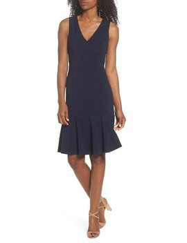 Ruffle Hem Body Con Dress by Vince Camuto