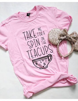 Millennial Pink | Teacups Tee | Mad Tea Party | Alice In Wonderland | Disney Shirt | Adult Unisex | Disney Vacation | Trip by Etsy