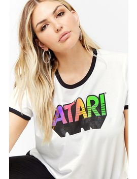 Plus Size Atari Graphic Ringer Tee by Forever 21