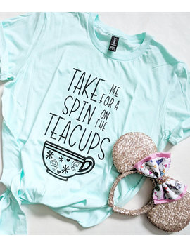 Teal Ice | Teacups Tee | Mad Tea Party | Alice In Wonderland | Disney Shirt | Adult Unisex | Disney Vacation | Disney Trip by Etsy