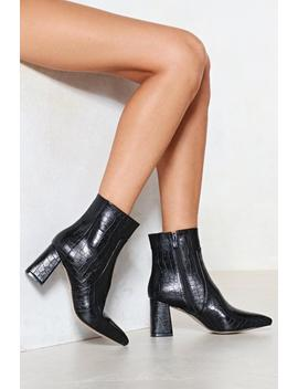 Croc It Out Vegan Leather Boot by Nasty Gal