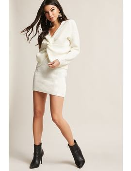Twist Front Sweater & Skirt Set by F21 Contemporary