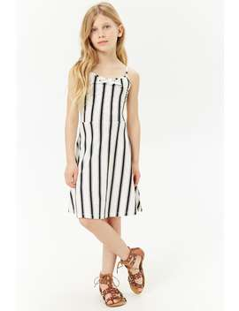 Girls Striped Bow Fit & Flare Dress (Kids) by Forever 21