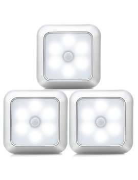 Urpowe Motion Sensor Light, 6 Led Bulbs Motion Sensor Closet Lights Battery Operated Stick On Anywhere Wireless Night Lights Magnetic Motion Sensor Security Closet Light For Stairway Closet by Urpower