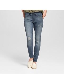 Women's High Rise Destructed Skinny Jeans   Universal Thread™ Medium Wash by Universal Thread™