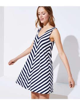 Chevron Sleeveless Swing Dress by Loft