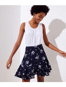 Wild Bouquet Flounce Skirt by Loft