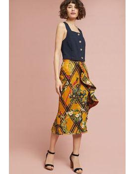 Pat Bo Sunflower Ruffled Skirt by Pat Bo