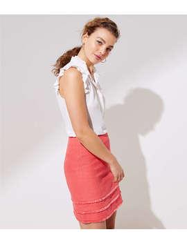 Tiered Fringe Shift Skirt by Loft