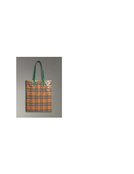 Large Coated Vintage Check Shopper by Burberry