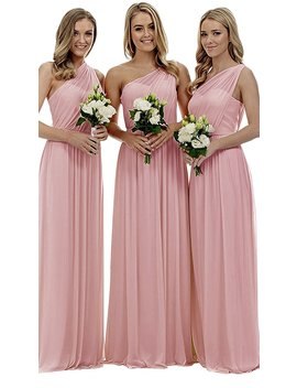 Staypretty Women's Long One Shoulder Bridesmaid Gown Asymmetric Prom Evening Dress by Stay Pretty