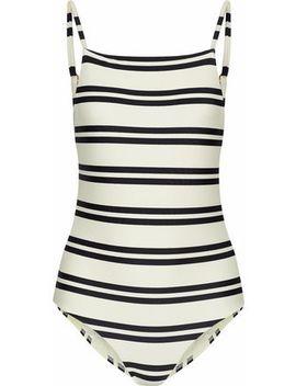 Cutout Striped Swimsuit by Vix