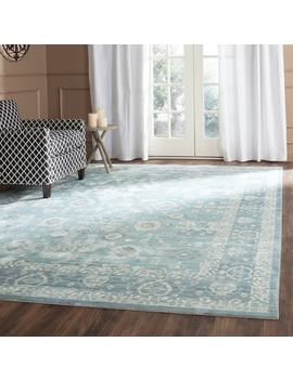 Safavieh Valencia Alpine/ Multi Distressed Silky Polyester Rug (8' X 10') by Safavieh