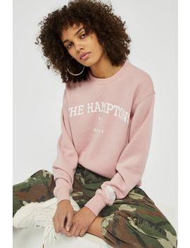 'the Hamptons' Sweatshirt By Tee & Cake by Topshop