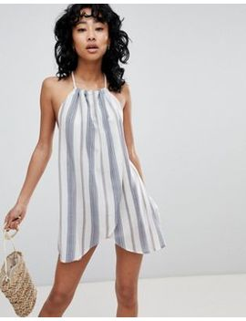 Asos Design Stripe Rope Tie Layered Beach Dress by Asos Design