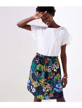 Tropicalia Tie Waist Pocket Skirt by Loft