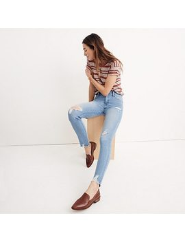 "Short 9"" High Rise Skinny Jeans In Ontario Wash: Distressed Hem Edition by Madewell"