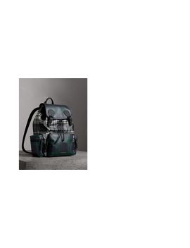 The Large Rucksack In Laminated Tartan by Burberry