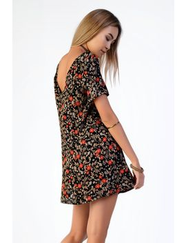 **Floral Print T Shirt Dress By Glamorous Petites by Topshop