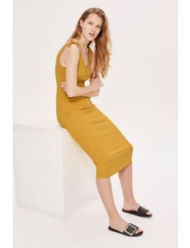 Tall Tie Top Lettuce Bodycon Dress by Topshop