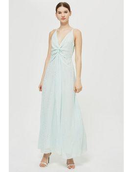 **Spot Foil Maxi Dress by Topshop