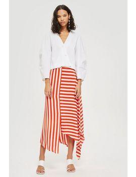 Tall Bold Striped Hanky Hem Skirt by Topshop