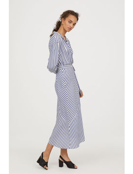 Striped Wrap Front Dress by H&M