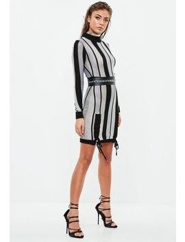 Black Striped Bodycon Dress by Missguided