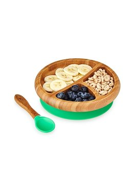 Bamboo Suction Baby Plate Set by Uncommon Goods